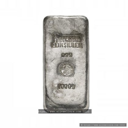 1KG 999.9 Fine Silver Bar Casted