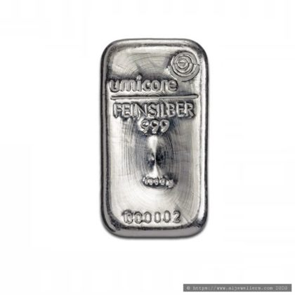 1KG Umicore 999.9 Fine Silver Bar Casted