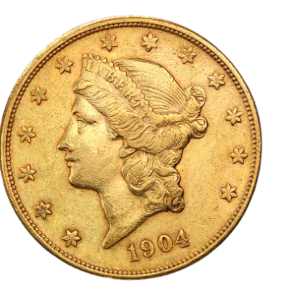 20 Dollar Double Eagle Liberty Head Gold Mix Years